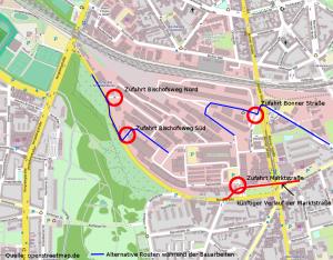 Übersichtsplan Umgestaltung Marktstrasse